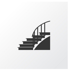 stairs icon symbol premium quality isolated vector image