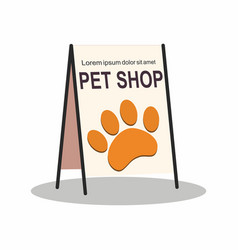 street stand pet shop on white background vector image
