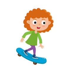 summer activity skateboarding concept vector image