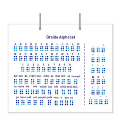 the alphabet is a braille font on the posters vector image