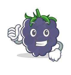Thumbs up blackberry character cartoon style vector