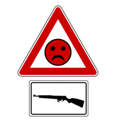 Traffic sign bad smiley for shooting vector