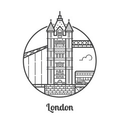 travel london icon vector image