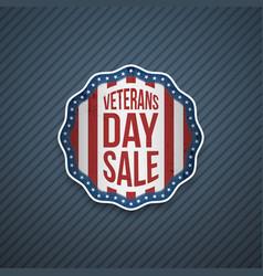 Veterans day sale usa patriotic emblem vector