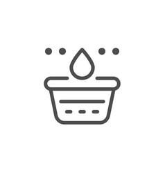 washing line icon vector image