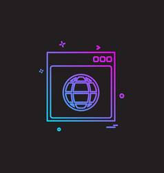 web layout icon design vector image