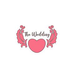 wedding greeting logo vector image