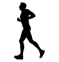young male runner marathon running vector image