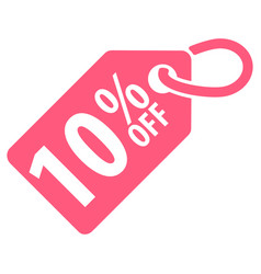 10 percent off tag vector image