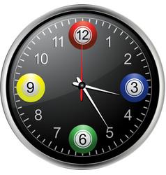 Bingo balls clock vector image vector image