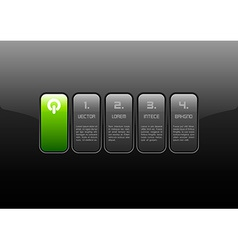Green Interface vector image