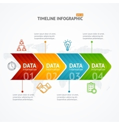 Infographic Timeline with Arrow Horizontal vector image vector image