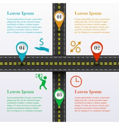 Intersection road infographic vector image