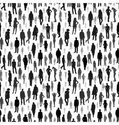 Large group of people seamless pattern vector image