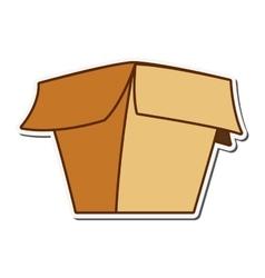 open cardboard box icon vector image