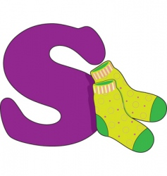 S is for socks vector image vector image