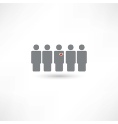 stands out from the crowd vector image