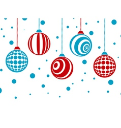 Winter Holiday Christmas Card vector image