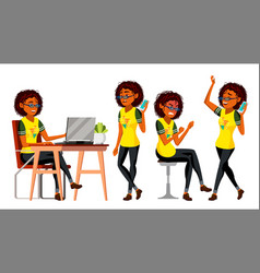 business african black woman character vector image