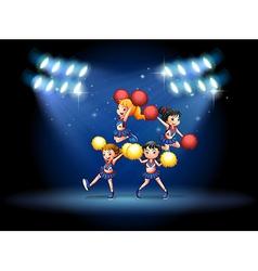 cheerleading squad vector image vector image