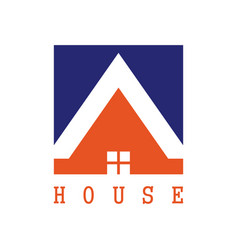 square house logo vector image vector image