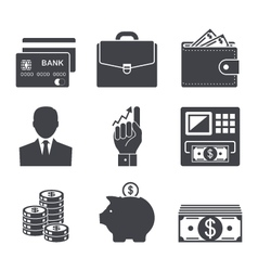 business money and finance icon vector image