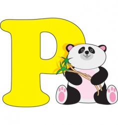 P is for panda vector image vector image