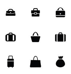 purse bag icons set vector image