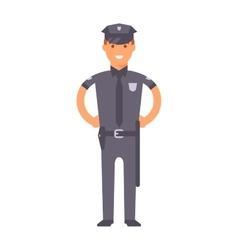 Cute cartoon character of policeman vector image