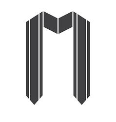 Graduation Award Ribbon Icon vector image vector image