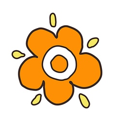 A pair of flower vector