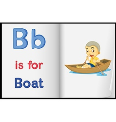 A picture of boat in book vector