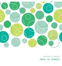 Abstract green circles horizontal frame vector