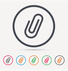 attachment icon paper clip sign vector image