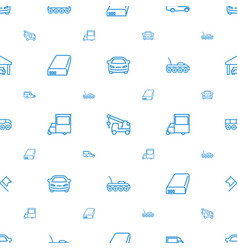 auto icons pattern seamless white background vector image