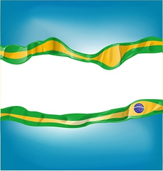 background with brazil flag vector image