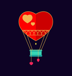 Balloon in the shape of heart vector