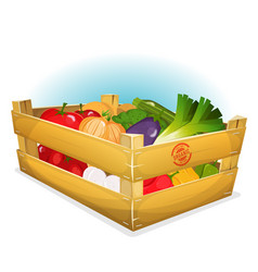 Basket of healthy vegetables vector