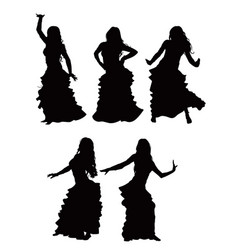 bellydance silhouette vector image