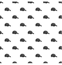 big baseball cap pattern seamless vector image