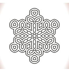 Black mandala circle vector