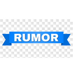Blue stripe with rumor text vector