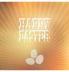 Blured background Easter vintage label vector image