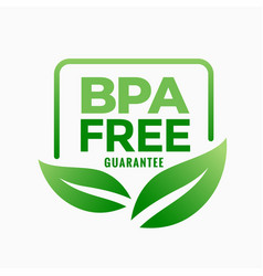 Bpa free bisphenol-a and phthalates guarantee vector