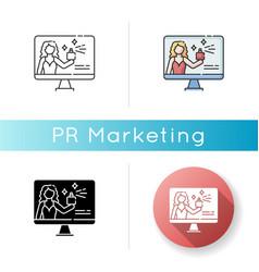 Brand ambassador icon vector