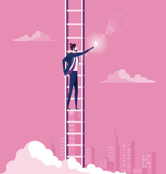 business target concept climbing ladder reaching vector image