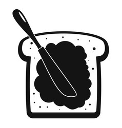 Butter on bread icon simple style vector