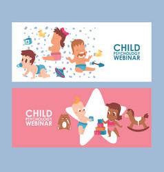 children psychology webinar banner vector image