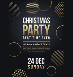 Christmas party flyer or poster winter vector