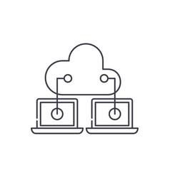 cloud technologies line icon concept cloud vector image